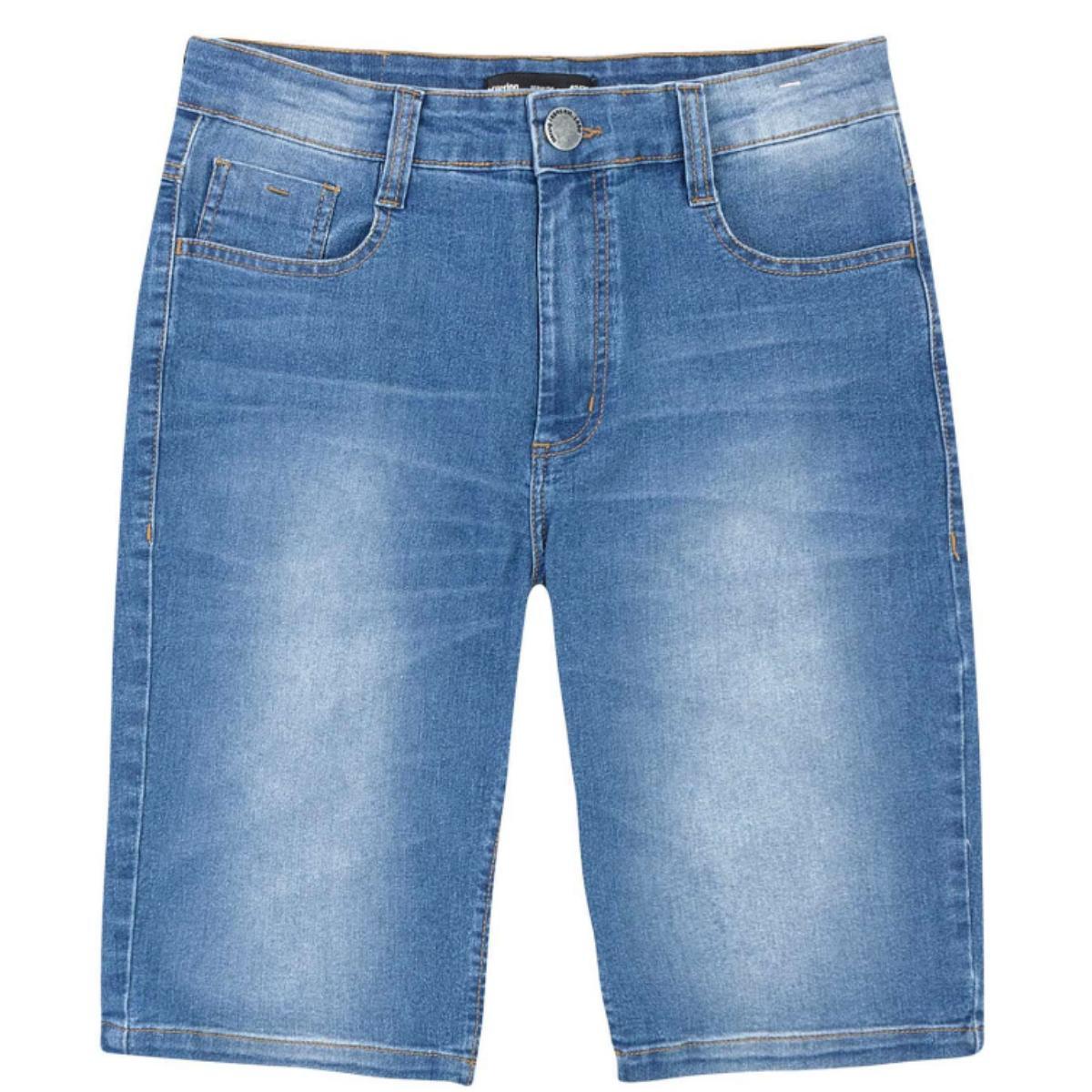 Bermuda Masculina Hering H4a4 Pdkej Jeans Claro