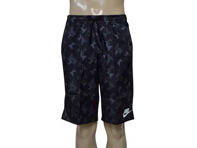 Bermuda Masculina Nike 863791-010 Nsw Wvn Aop Flow  Preto/grafite