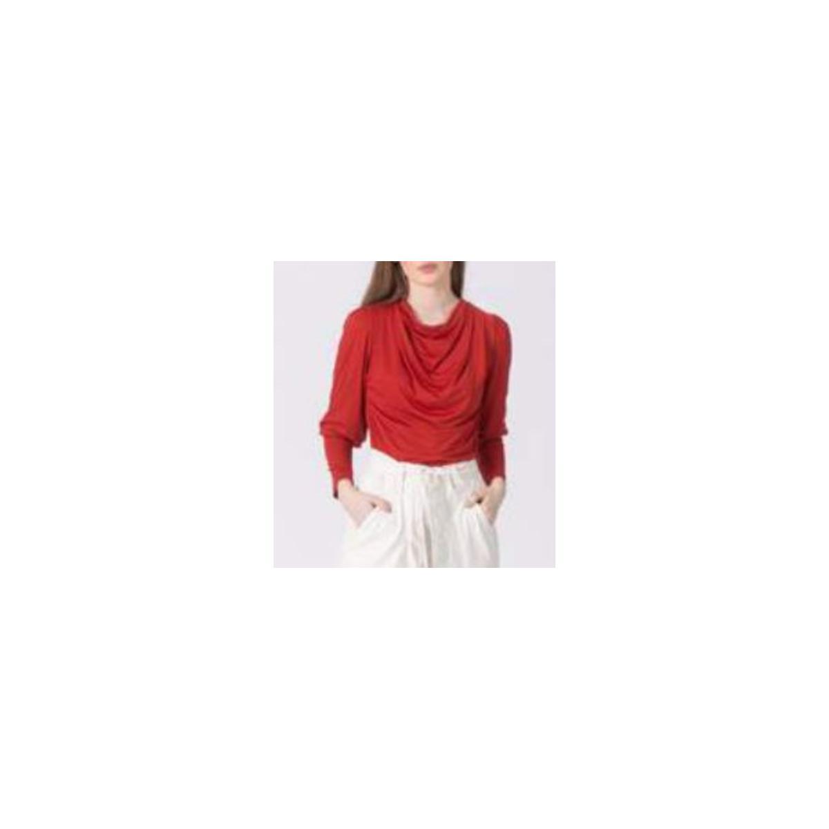 Blusa Feminina Borda Barroca 10011281 Vermelho
