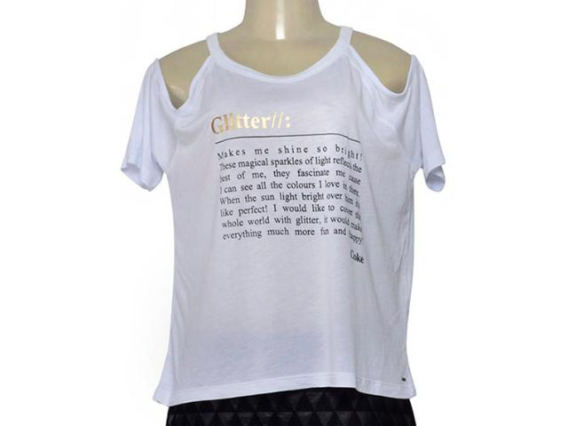 Blusa Feminina Coca-cola Clothing 343202284 Branco