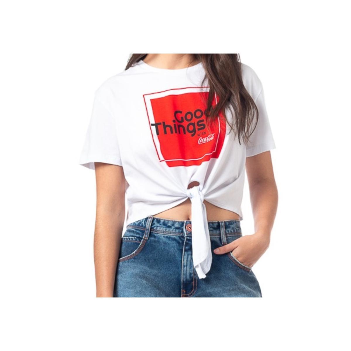 Blusa Feminina Coca-cola Clothing 343203188 0001 Branco