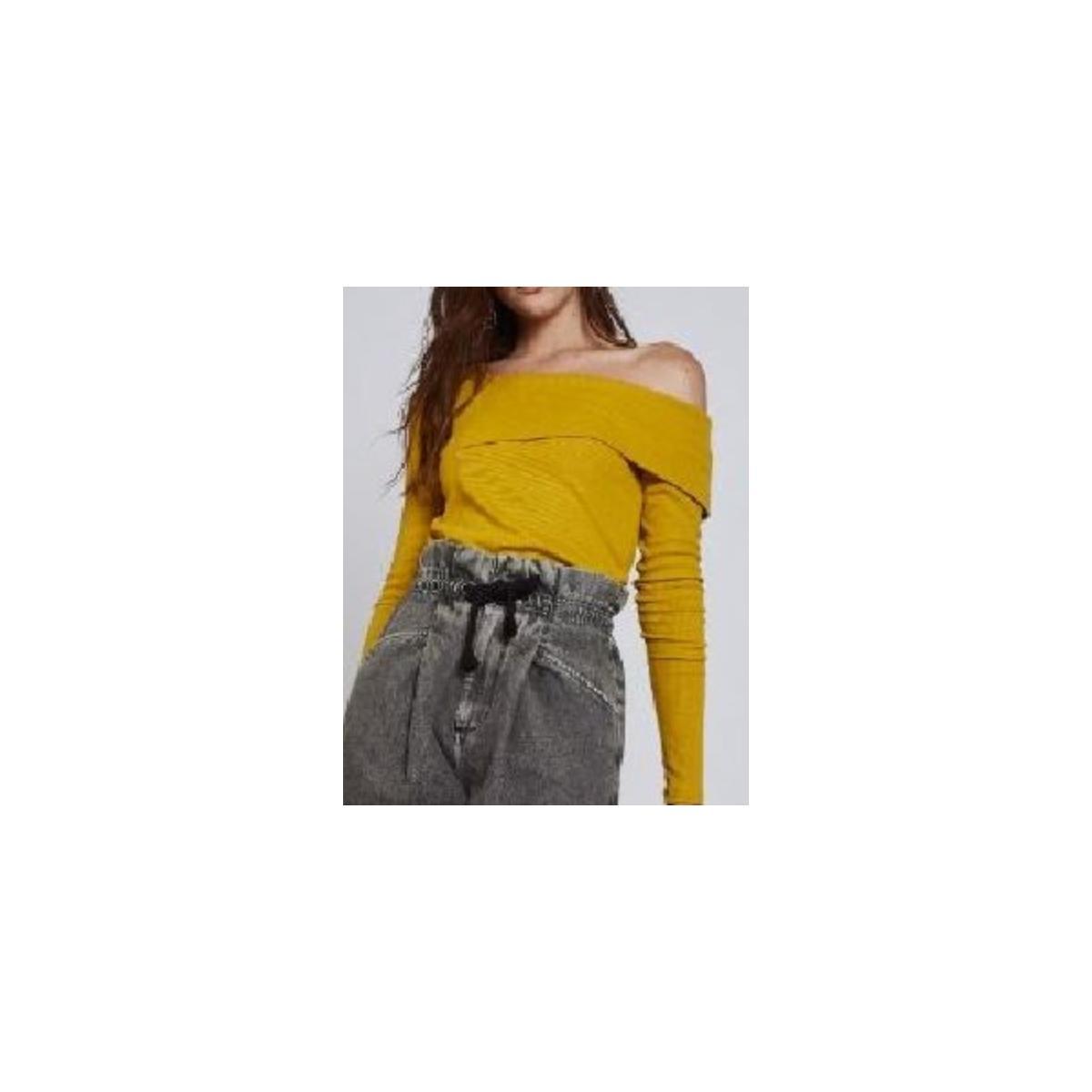 Blusa Feminina Colcci 360115530 53706 Amarelo