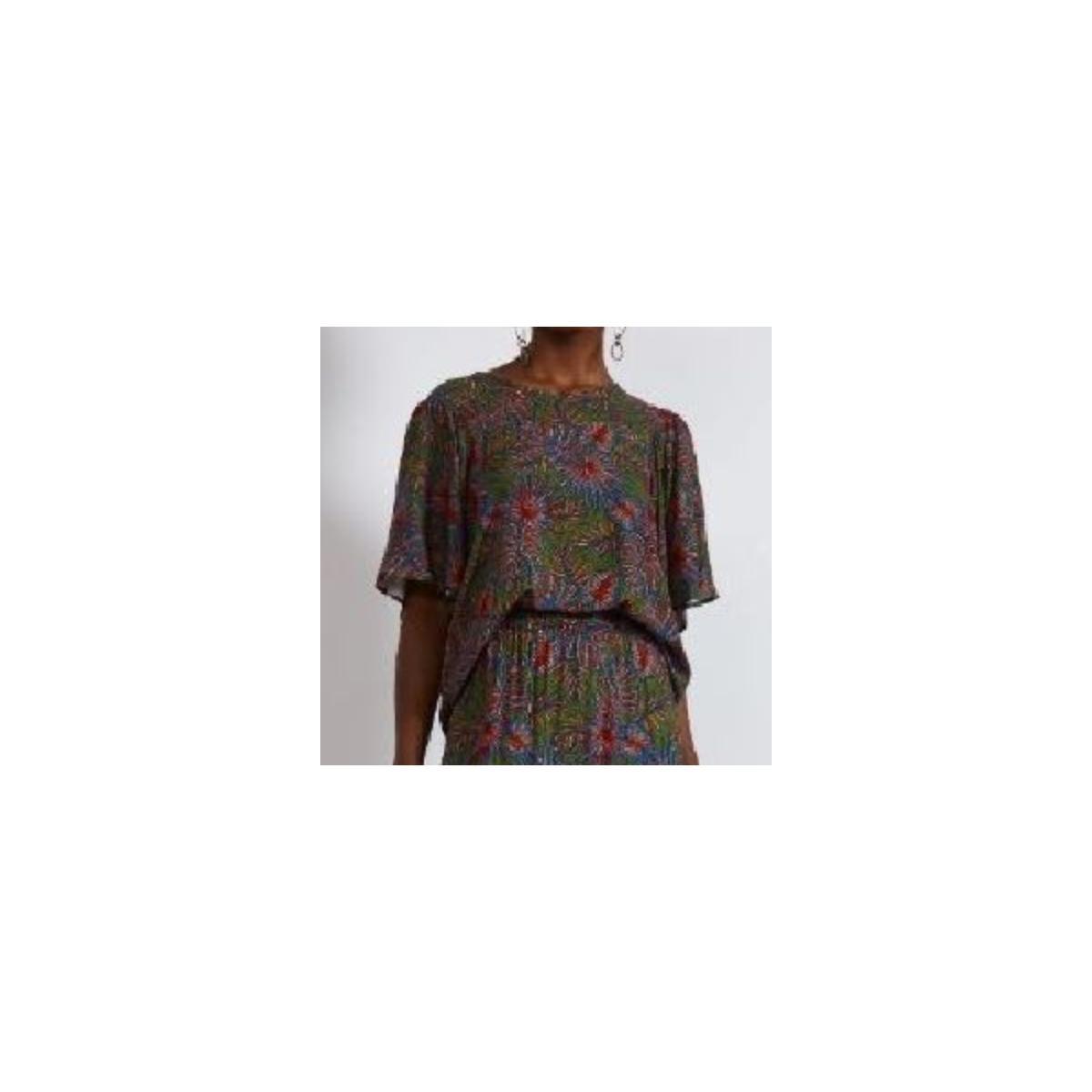 Blusa Feminina Colcci 360115544 Vc344 Verde Estampado