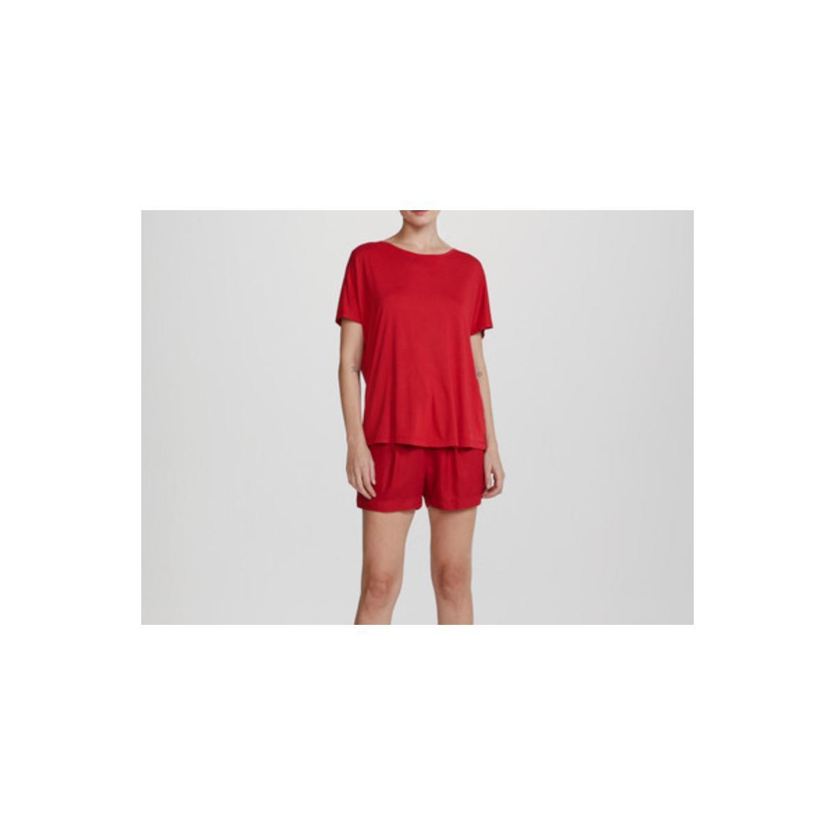 Blusa Feminina Hering 4f9m Rvten  Vermelho