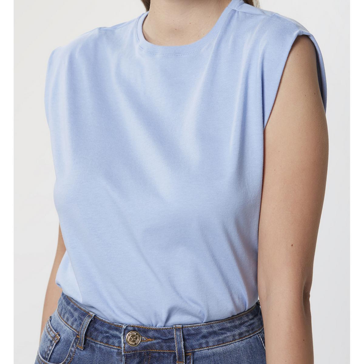 Blusa Feminina Hering 4ae1 Az8en Azul Claro
