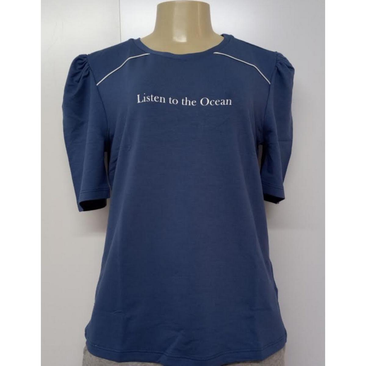 Blusa Feminina Lado Avesso L114469 Azul Jeans