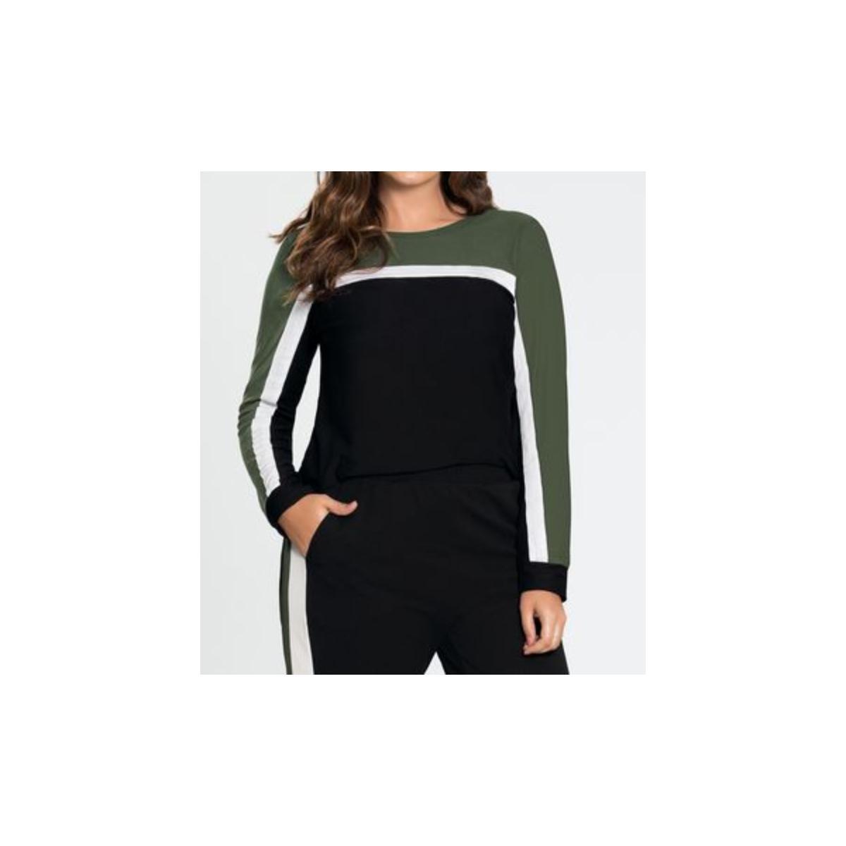 Blusa Feminina Lunender 60174 Verde/preto