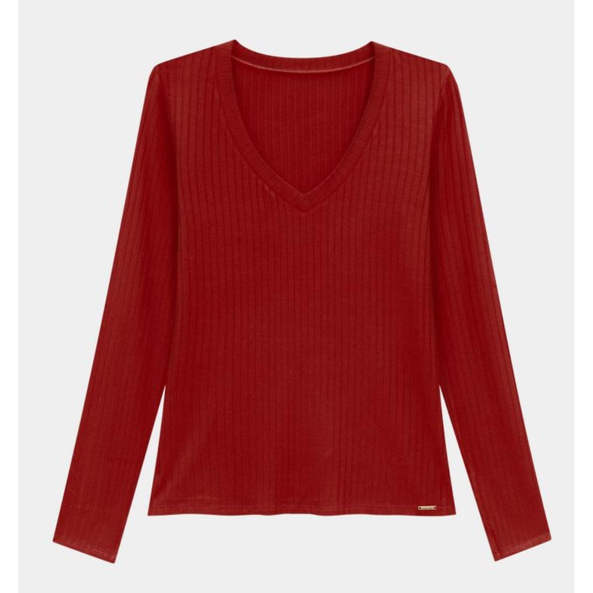 Blusa Feminina Lunender 00344 Vermelho