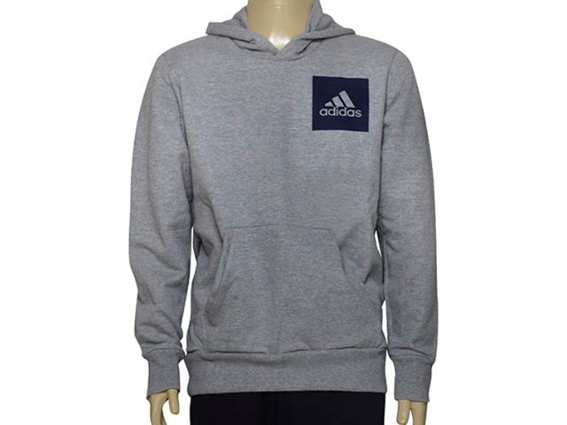 Blusão Masculino Adidas Br6338 Ess Logo Hood  Mescla