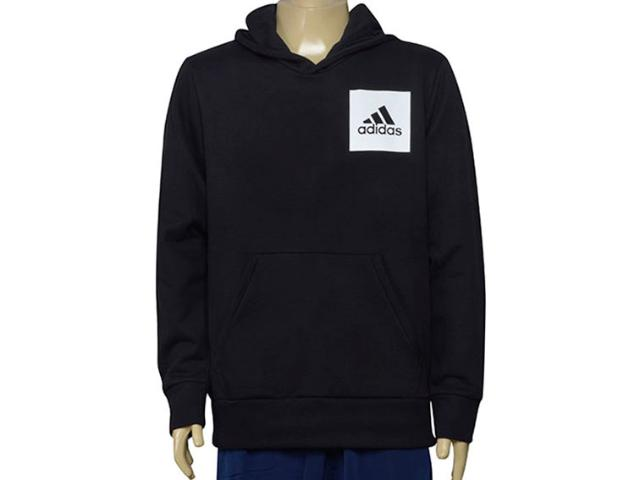 Blusão Masculino Adidas Br6341 Ess Logo Hood Preto