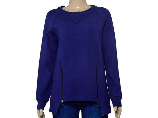 Blusão Feminino Borda Barroca 1001667 Azul