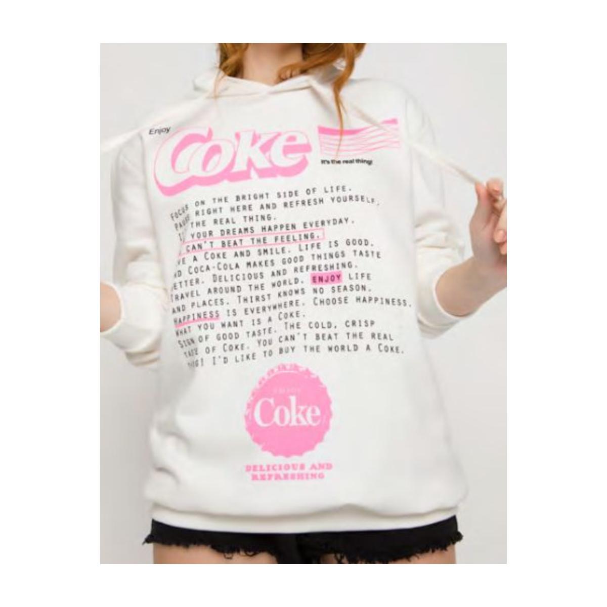 Blusão Feminino Coca-cola Clothing 403200487 58529 Off White