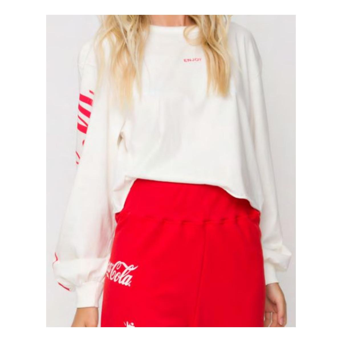Blusão Feminino Coca-cola Clothing 403200494 58529 Off White