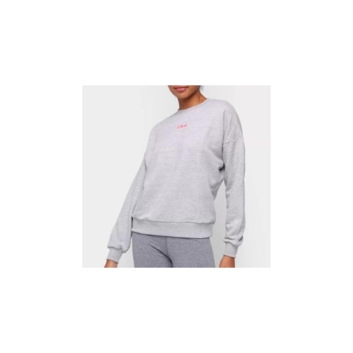 Blusão Feminino Fila F12l522013.2458 Comfy Mescla/rosa