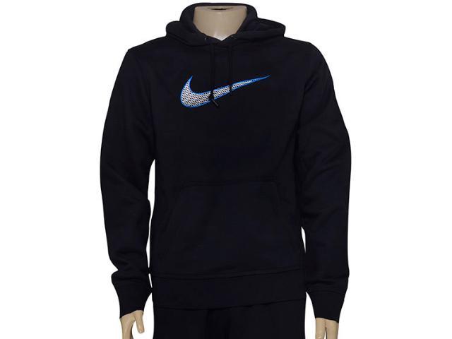 Blusão Masculino Nike 727755-010 Club Fleece Swoosh  Preto