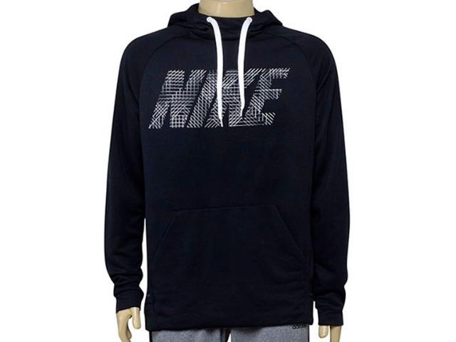 Blusão Masculino Nike 886650-010 Dry Training Hoodie Preto/branco