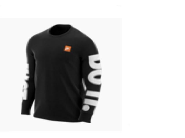 Camiseta Masculina Nike Ar5197-010 Sportswear Preto/branco