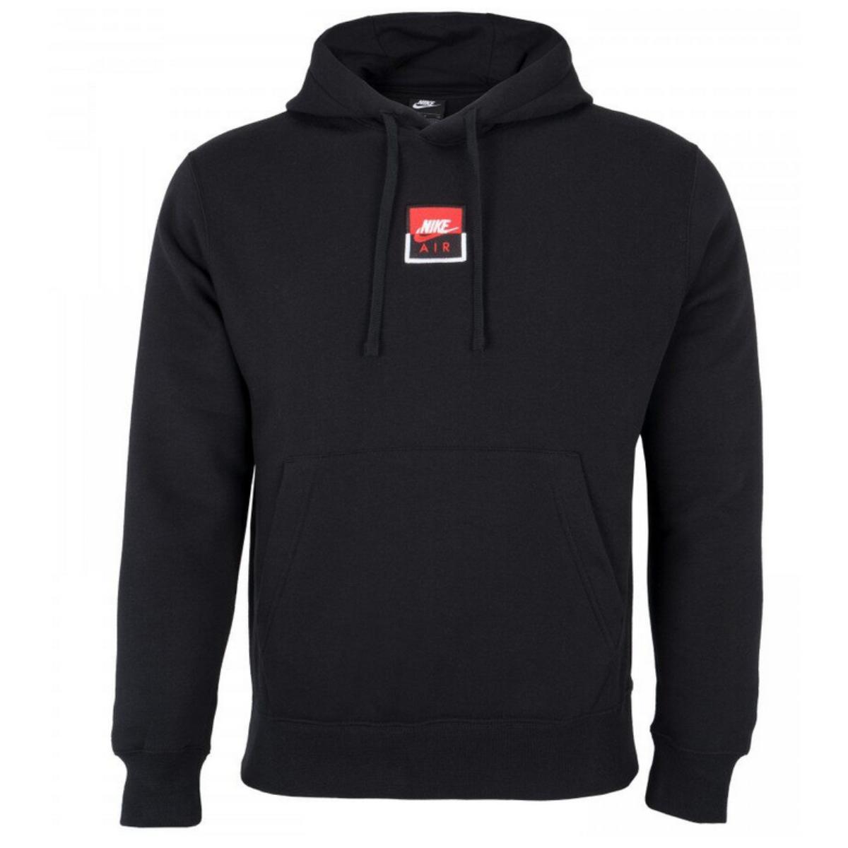 Blusão Masculino Nike Ct7172-010 Nsw po Hoodie Air Ssnl Preto