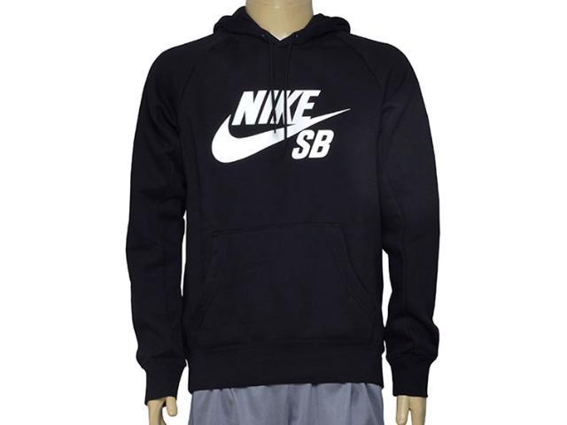 Blusão Masculino Nike 846886-010 sb Icon Pullover Hoodie Preto