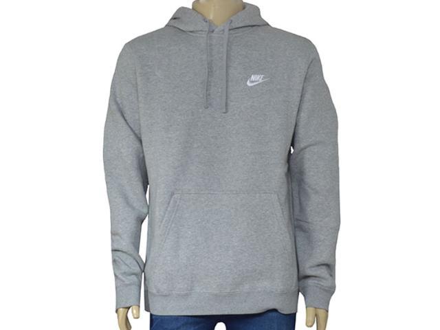 Blusão Masculino Nike 804346-063 Sportswear Hoodie Cinza