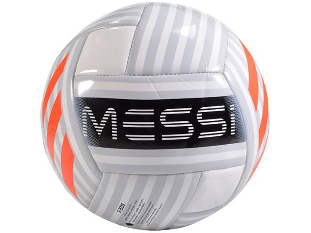Bola Masculina Adidas Bq1369 Messi Glider Branco/prata/laranja