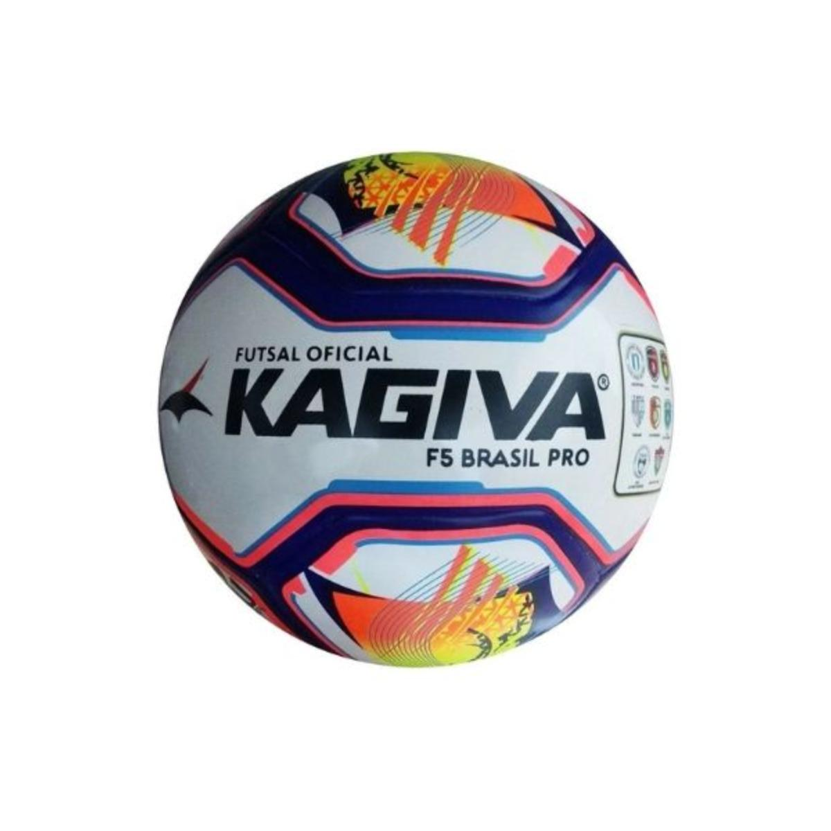 Unisex Kagiva 0089 Bola Futsal f5 Brasil Rosa Neon/azul/preto