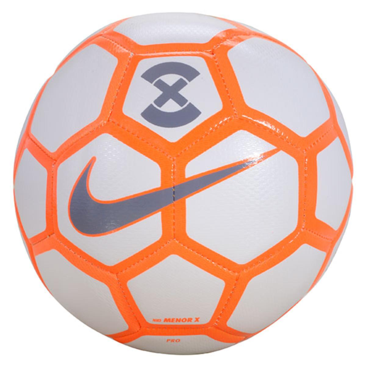 Bola Unisex Nike Sc3039-101 Menor x Football Branco/laranha/cinza