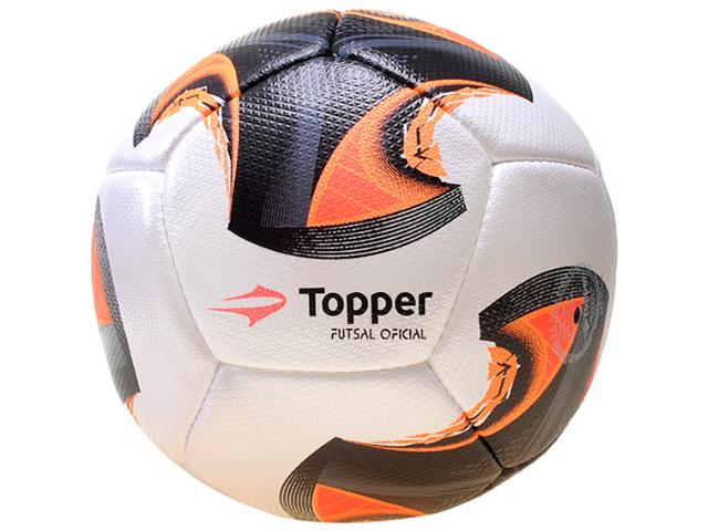 Bola Unisex Topper 4130753 V12 Branco/laranja/preto