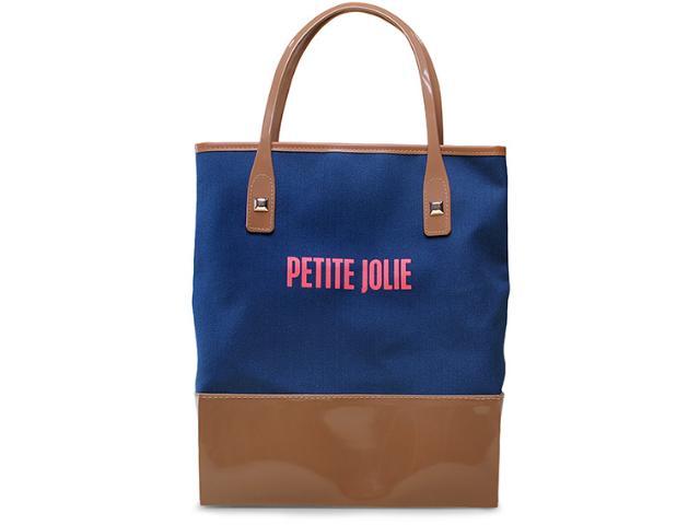 Bolsa Feminina Petite Jolie Pj1463 Marinho/natural