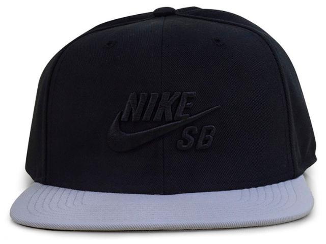 Boné Masculino Nike 628683-017 sb Icon Pro  Preto/cinza