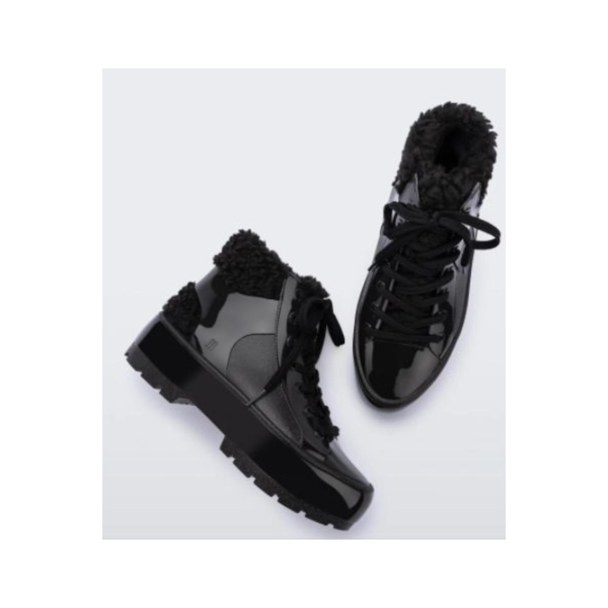 Bota Feminina Melissa 33318 01003 Fluffy Sneaker  Preto