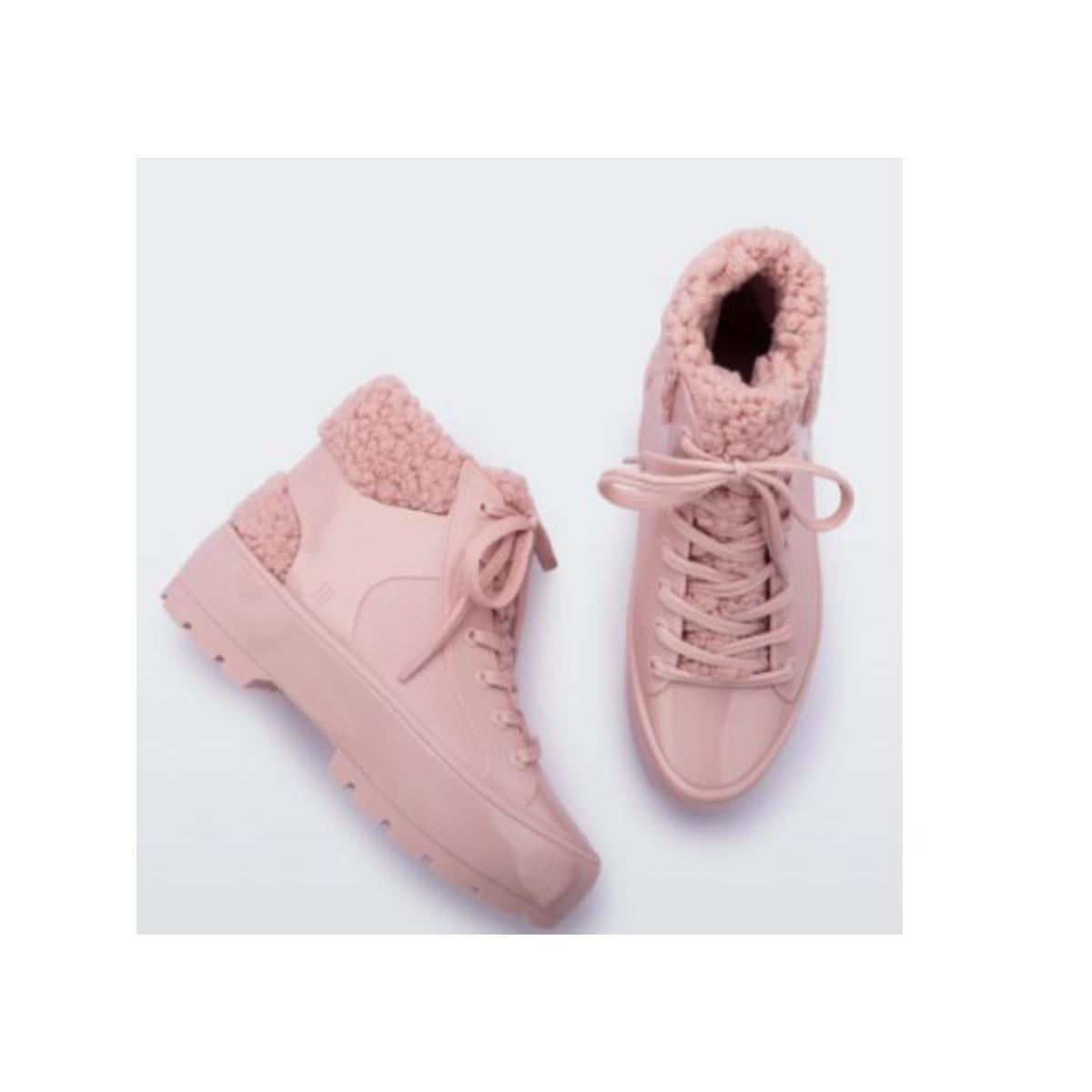 Bota Feminina Melissa 33318 16476 Fluffy Sneaker Rosa