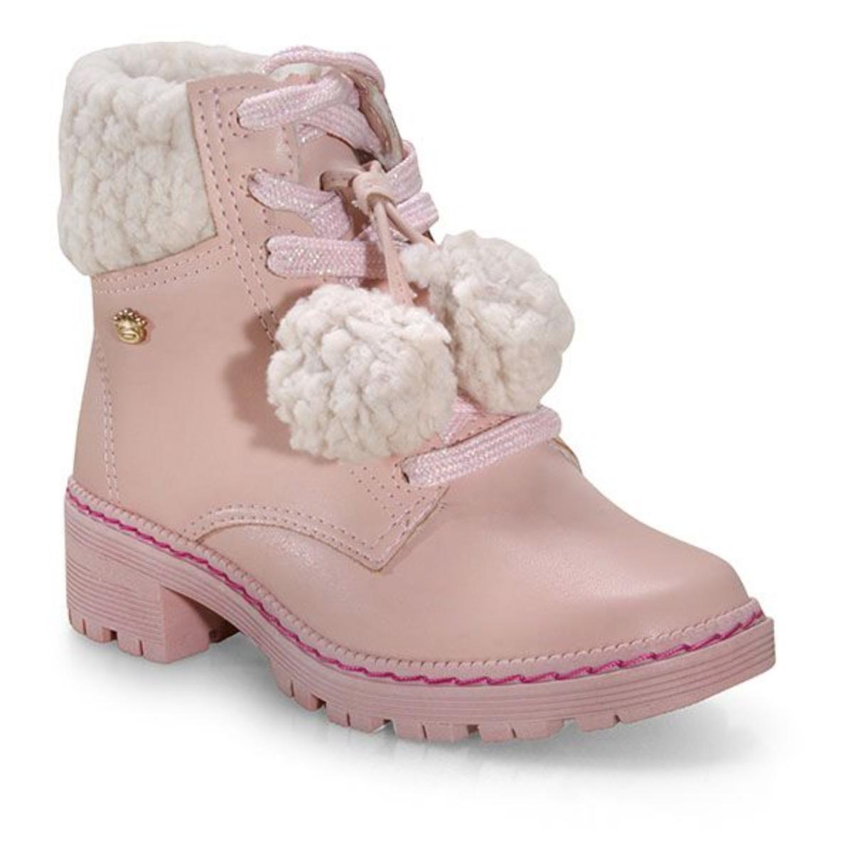 Bota Fem Infantil Pink Cats V1741 Quartzo/nude