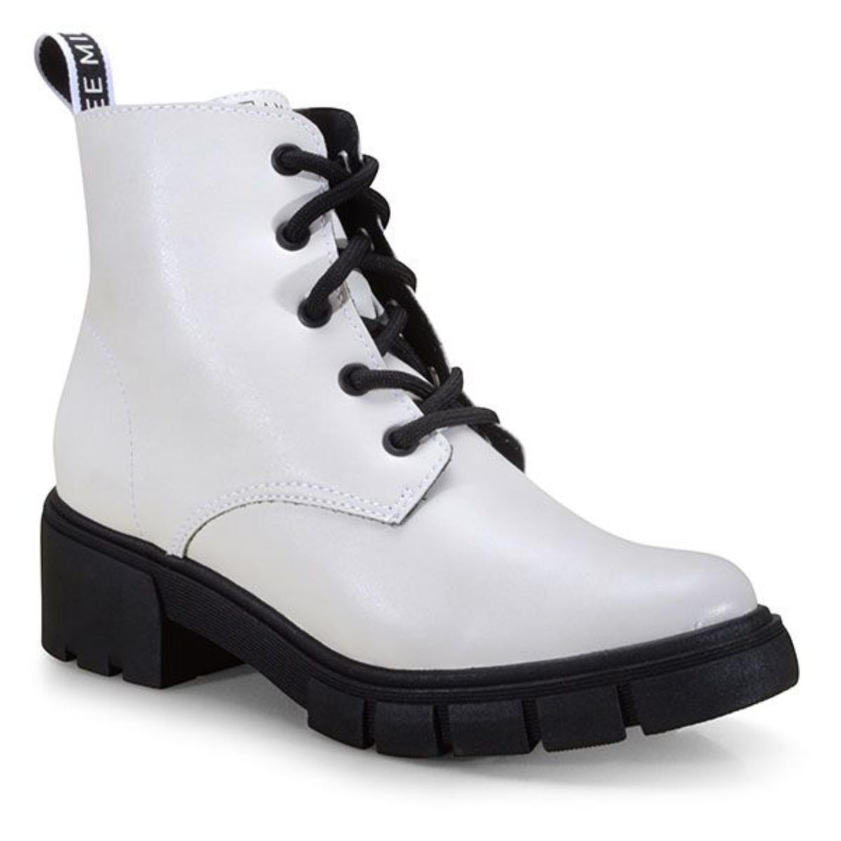 Bota Feminina Ramarim 21-12101 Branco/preto