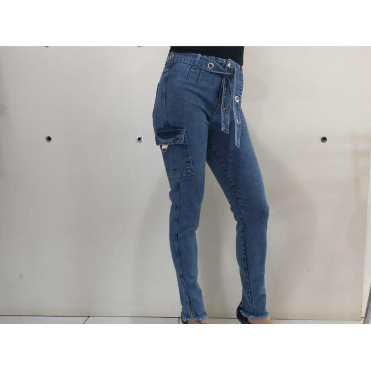 Calça Feminina Carmenta 061327 Jeans