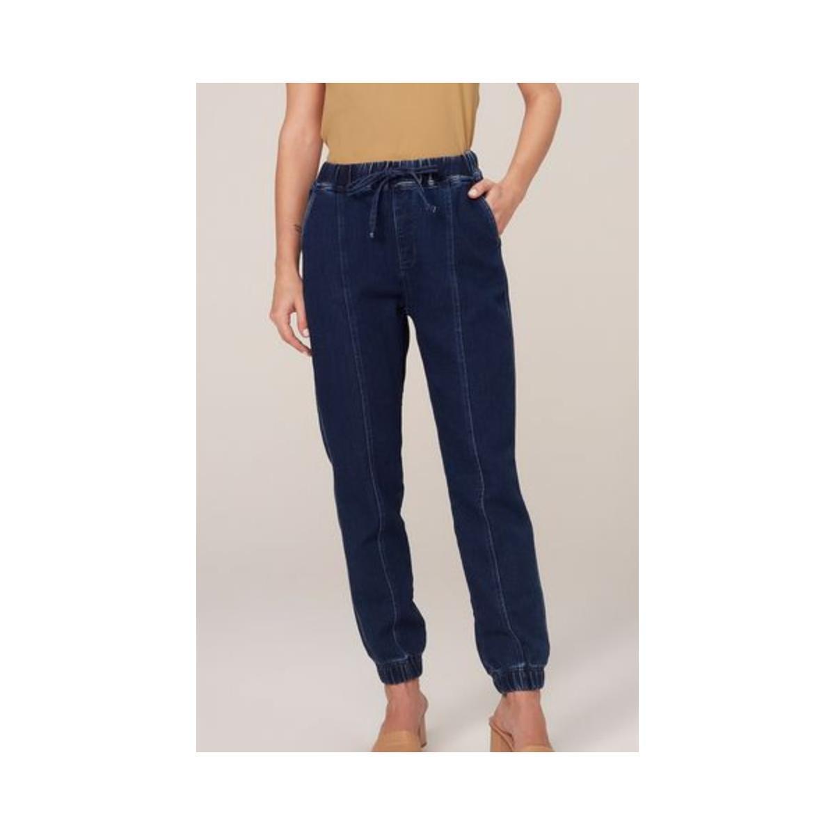 Calça Feminina Dzarm Zu5p 1asn  Jeans Escuro