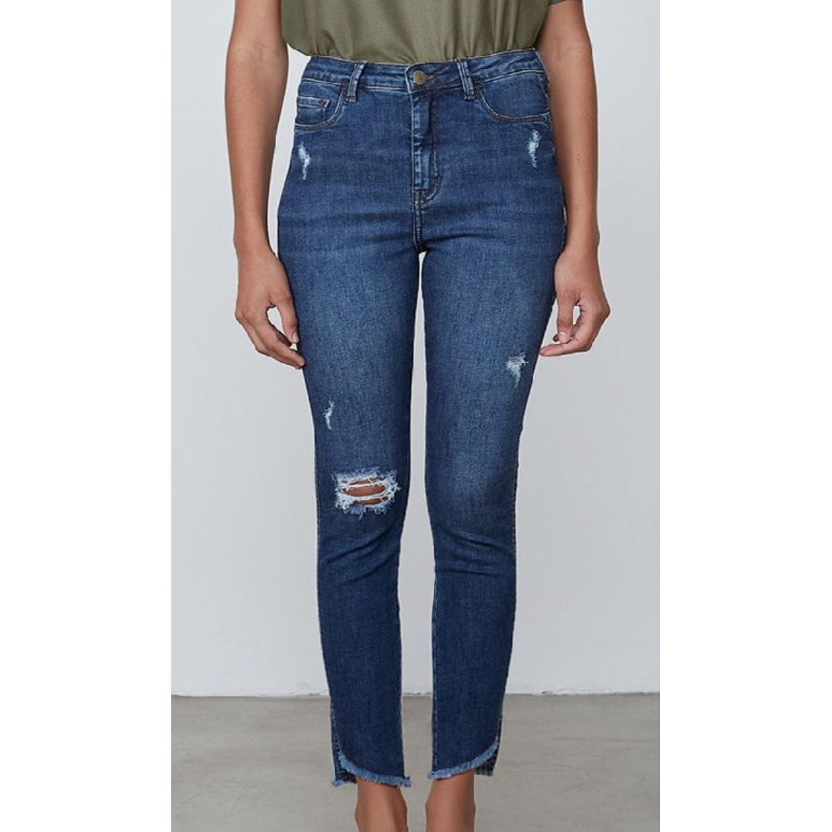 Calça Feminina Dzarm Zu7d 1asn  Jeans Escuro