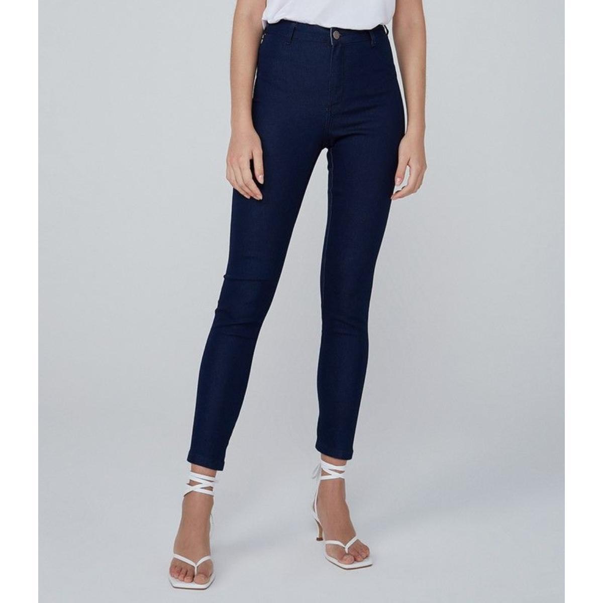 Calça Feminina Dzarm Zu53 1asn Jeans Escuro