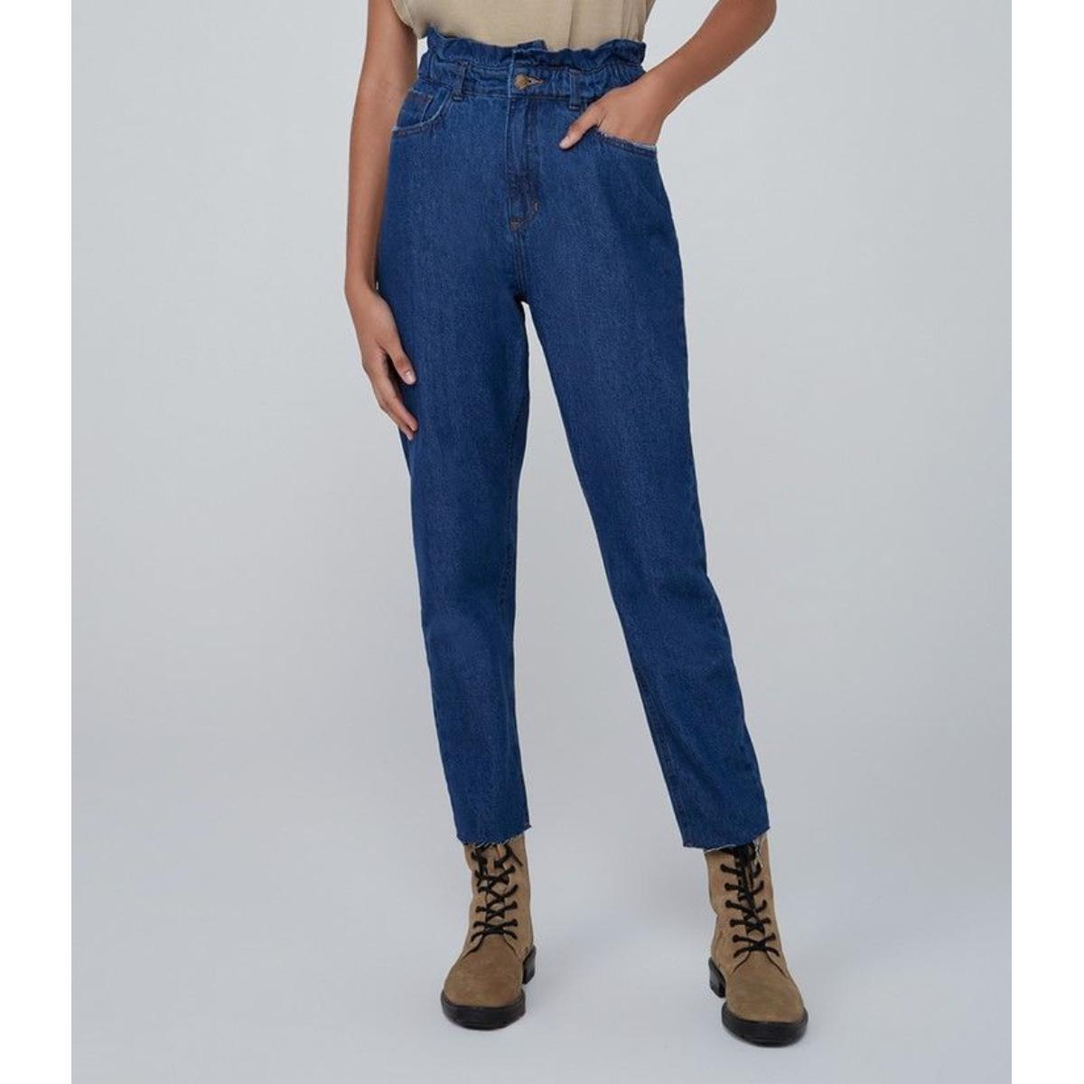 Calça Feminina Dzarm Zu73 1asn Jeans Escuro