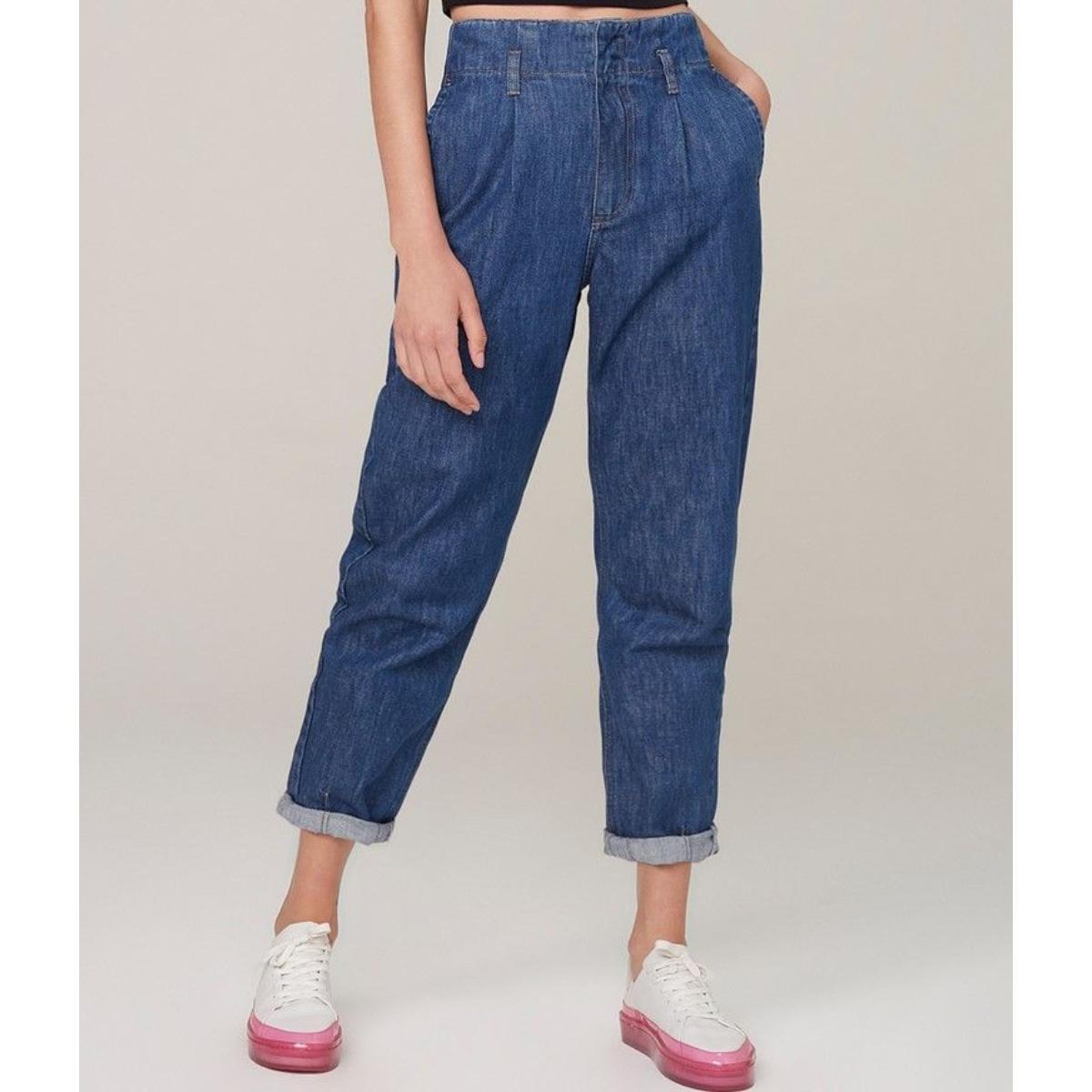Calça Feminina Dzarm Zu4n 1asn Jeans Escuro