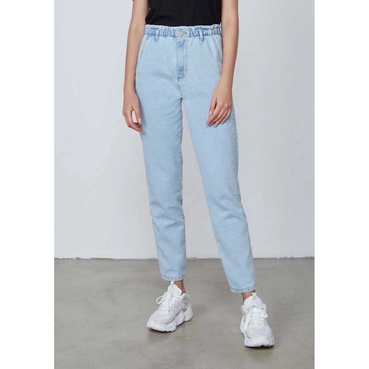 Calça Feminina Dzarm Zu78 1bsn Jeans Claro