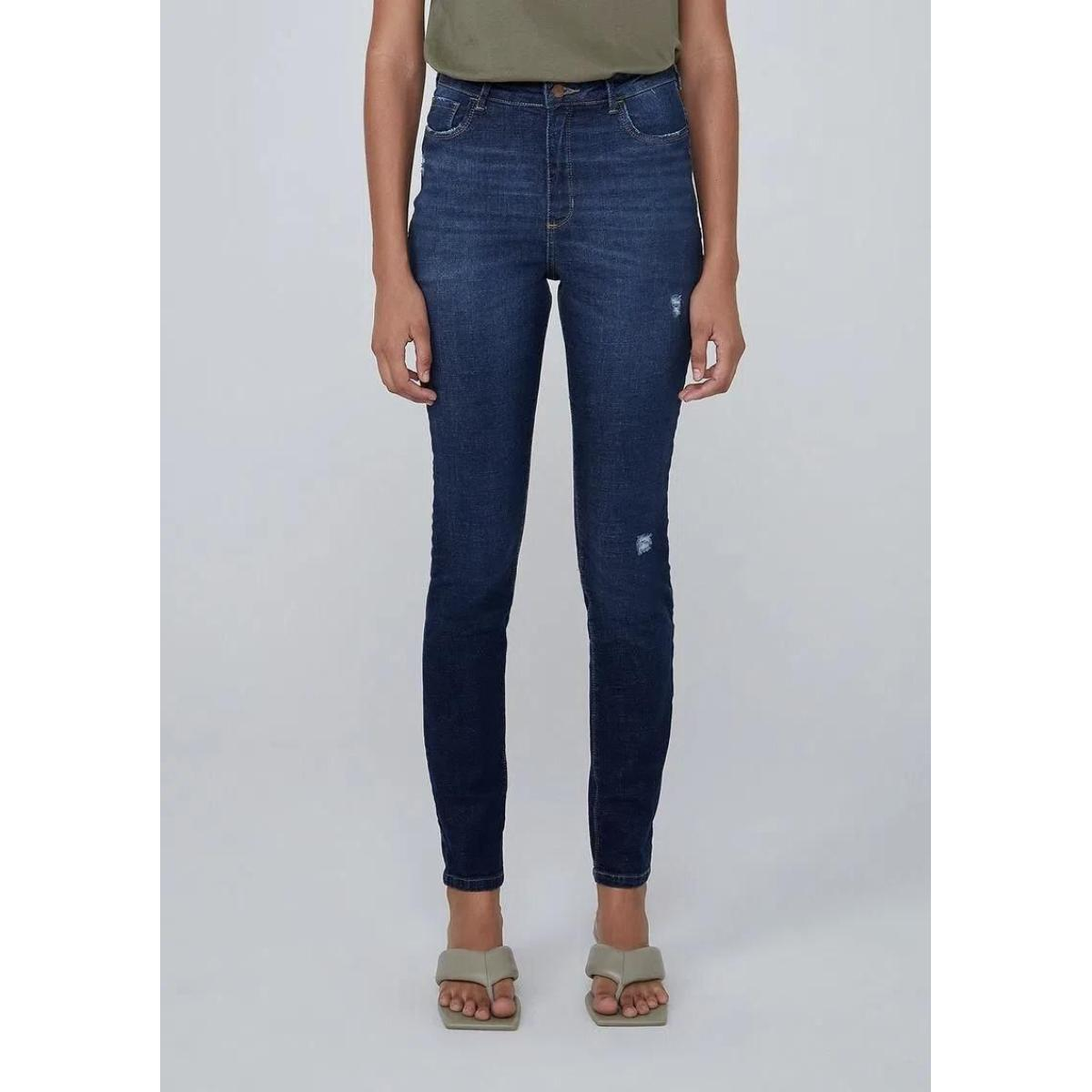 Calça Feminina Dzarm Zu75 1asn Jeans Escuro