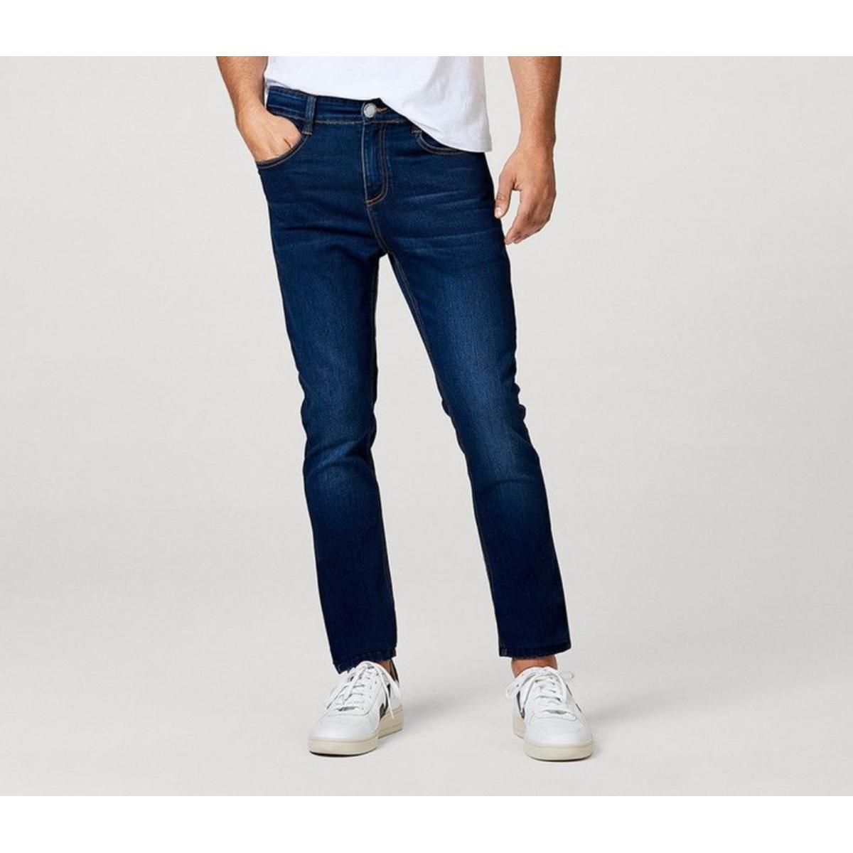 Calça Masculina Hering Kz0f  1bsi Jeans Escuro