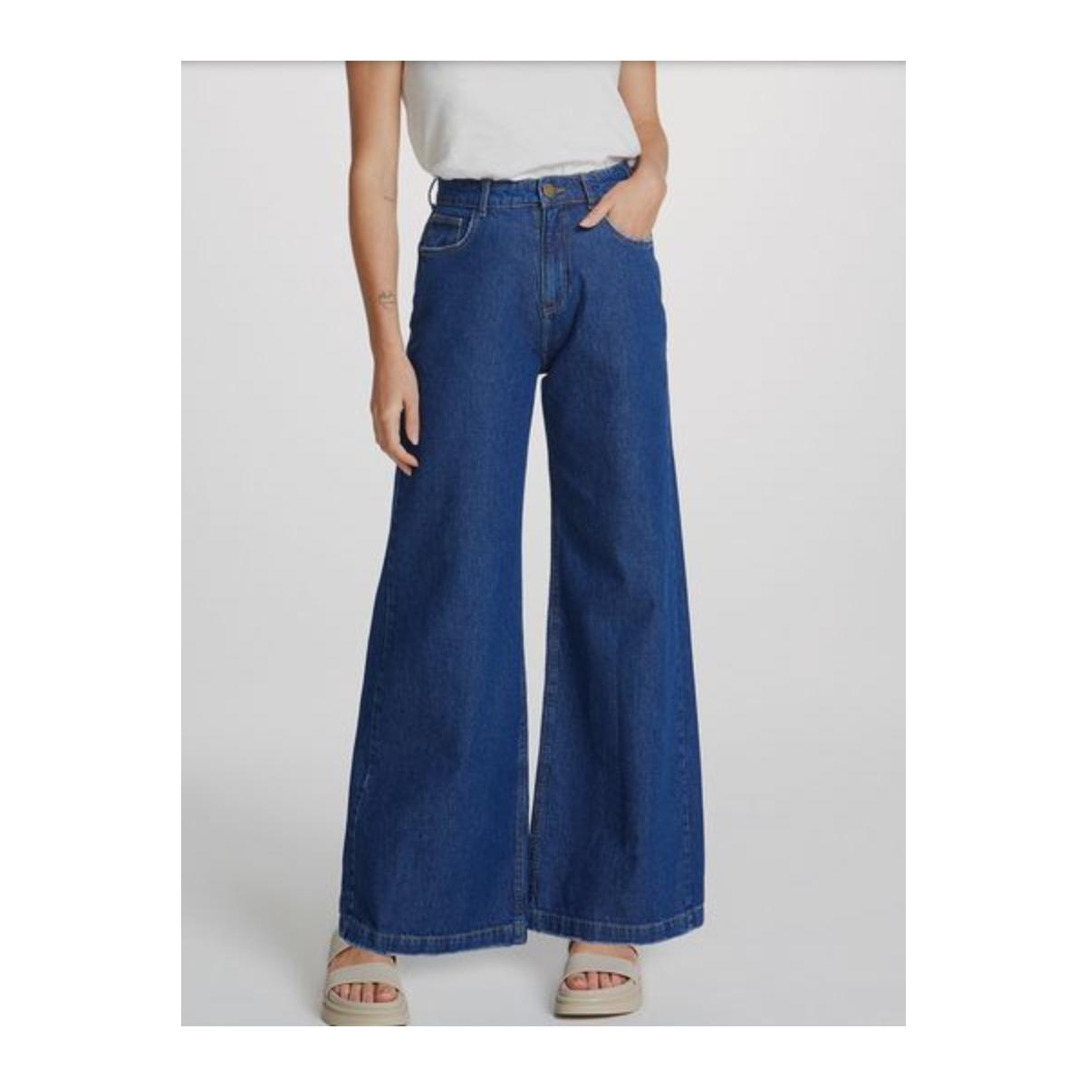 Calça Feminina Hering H9ag 1bsn  Jeans Escuro