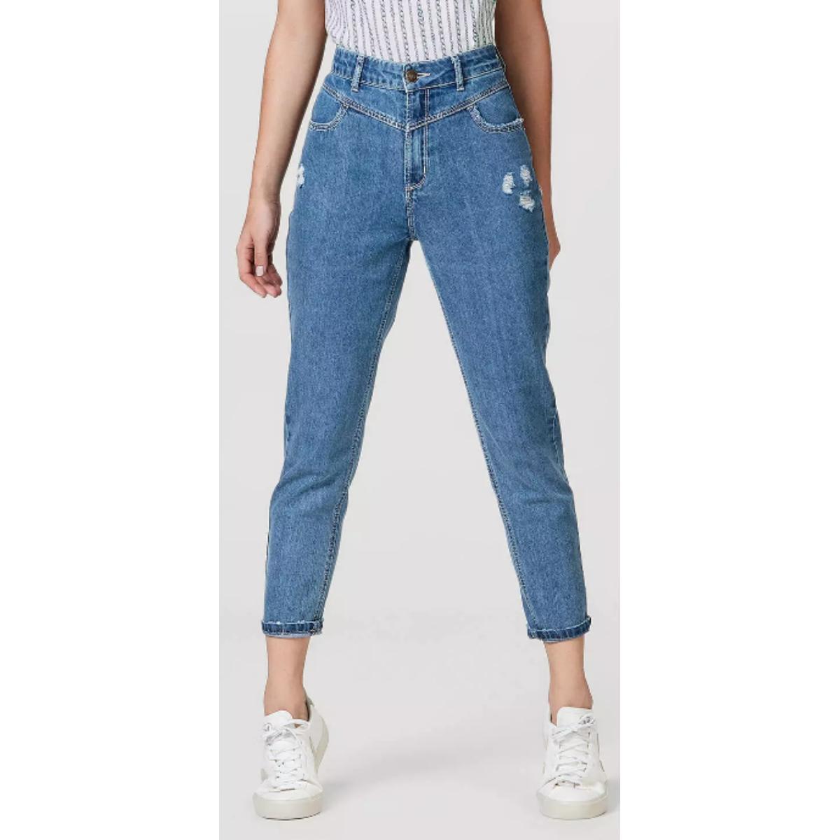 Calça Feminina Hering H97x 1bej Jeans Escuro