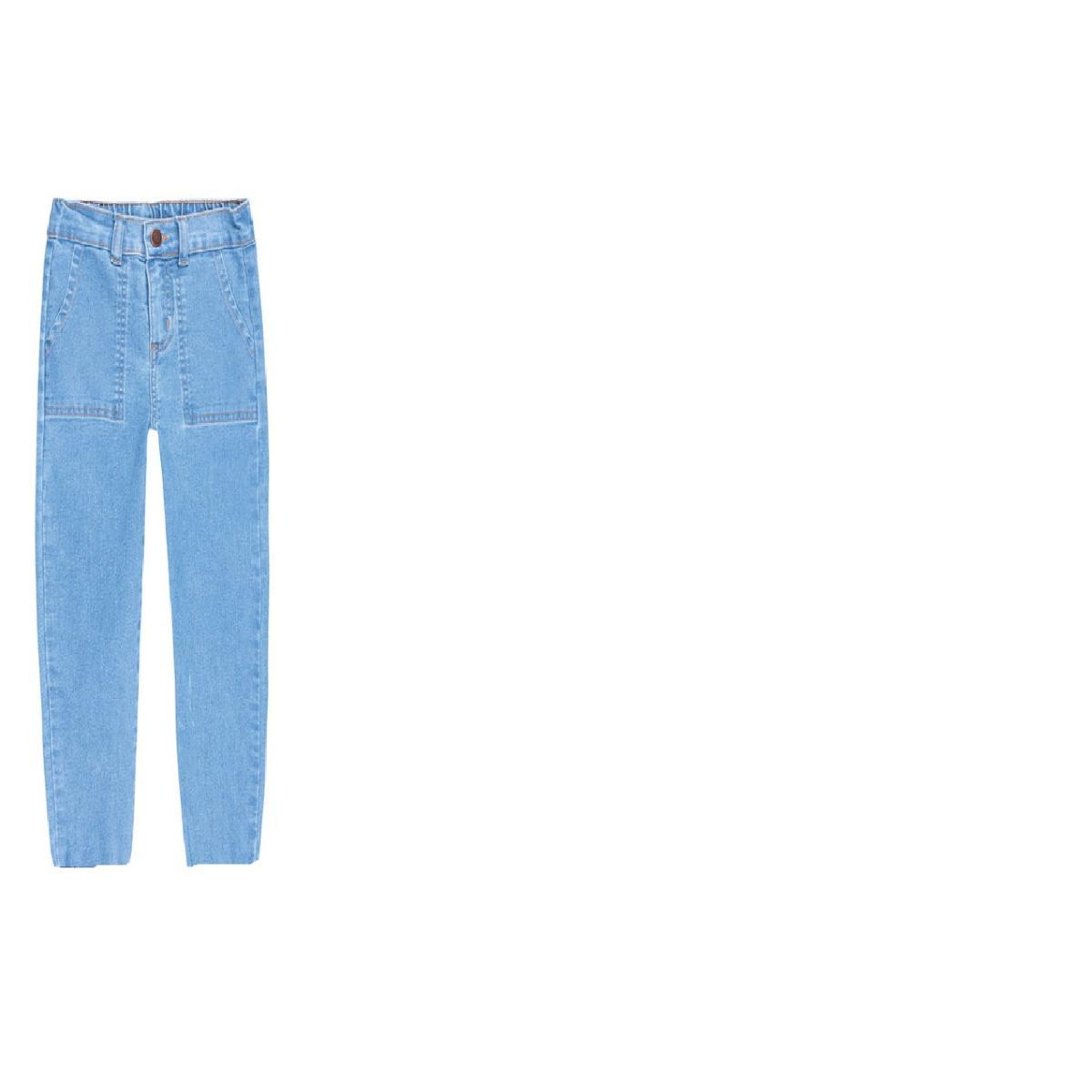 Calça Fem Infantil Puc Ubln 1asn Jeans Claro