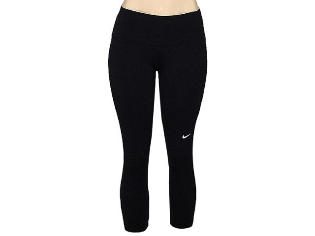 Calça Feminina Nike 446156-019 em Foldover Tight Capri Iii Preto