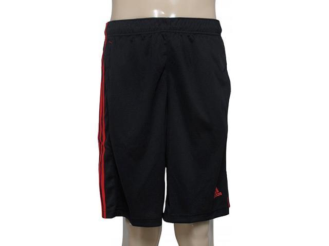 Calçao Masculino Adidas M64678 Essential Sho Preto/vermelho