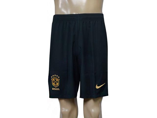 Calçao Masculino Nike 832453-364 Cbf nk Dry Stad Verde Musgo