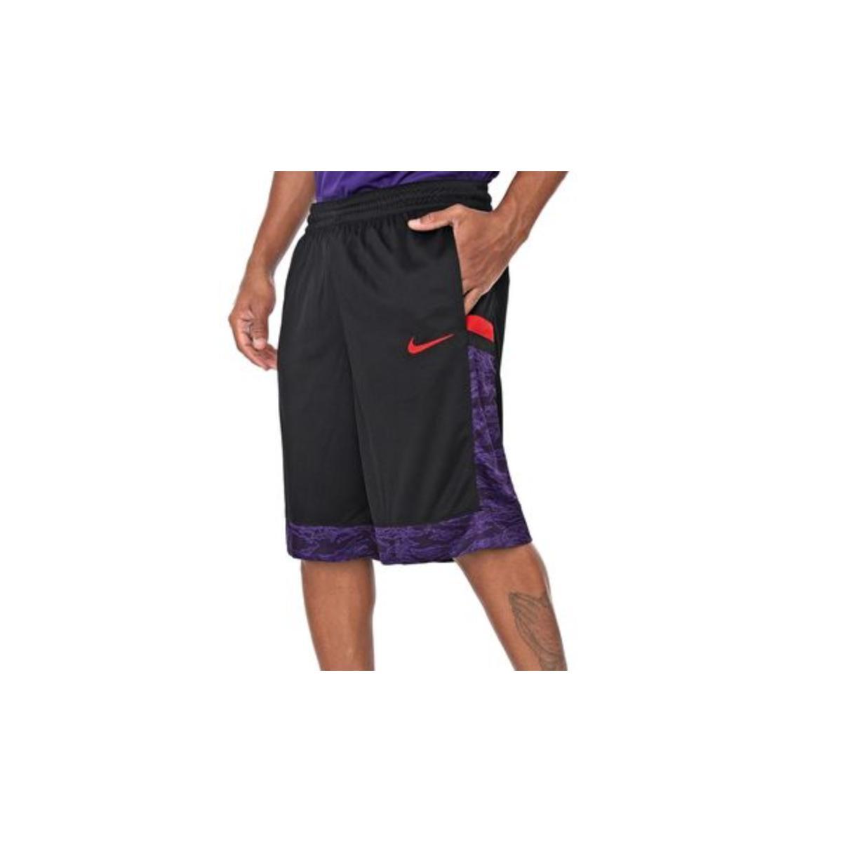 Calçao Masculino Nike At3171-011 m nk Dry Courtlines Preto/vermelho/roxo